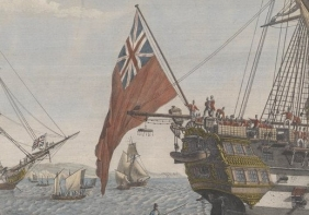 Transfer of Bonaparte from the HMS 'Bellerophon' (1786) to the HMS 'Northumberland' (1798) August 8, 1815